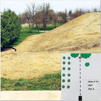 Akron Community DGC, Main course, Hole 13 Tee pad