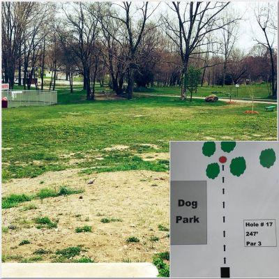 Akron Community DGC, Main course, Hole 17 Tee pad