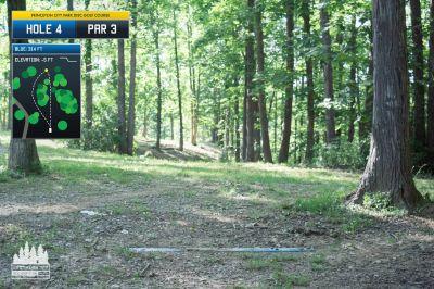 Princeton City Park, Main course, Hole 4 Long tee pad