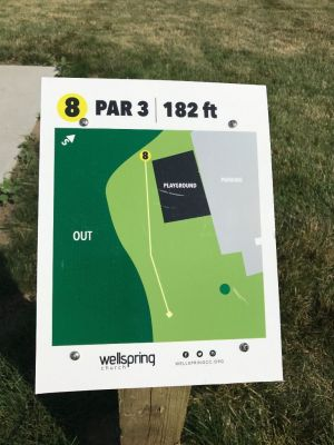 Wellspring DGC, Main course, Hole 8 Hole sign