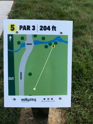 Wellspring DGC, Main course, Hole 5 Hole sign