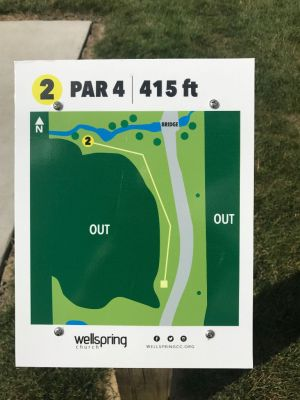 Wellspring DGC, Main course, Hole 2 Hole sign