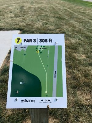 Wellspring DGC, Main course, Hole 7 Hole sign