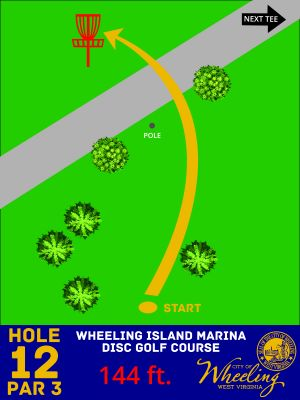 Wheeling Island Marina, Main course, Hole 12