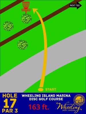 Wheeling Island Marina, Main course, Hole 17 Hole sign