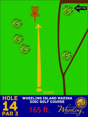 Wheeling Island Marina, Main course, Hole 14