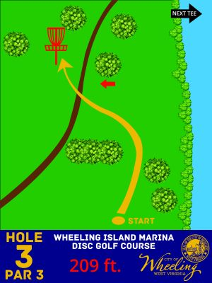 Wheeling Island Marina, Main course, Hole 3