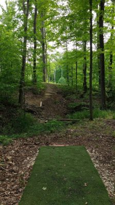 Camp Carl DGC, Main course, Hole 8 Tee pad