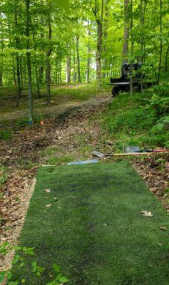 Camp Carl DGC, Main course, Hole 9 Tee pad