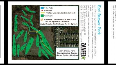 Earl W. Brewer Park, Championship course, Hole 1 Hole sign
