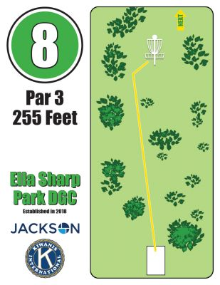 Ella Sharp Park, Main course, Hole 8 Hole sign