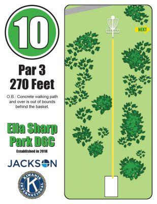Ella Sharp Park, Main course, Hole 10 Hole sign