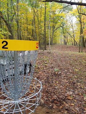 Sandy Knoll County Park, Main course, Hole 2 Reverse (back up the fairway)