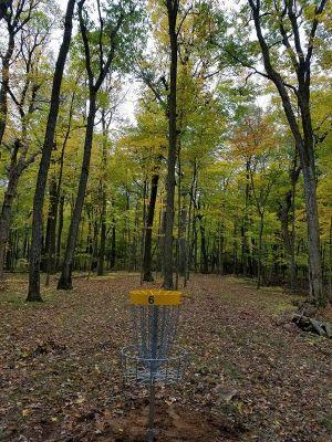 Sandy Knoll County Park, Main course, Hole 6 Reverse (back up the fairway)