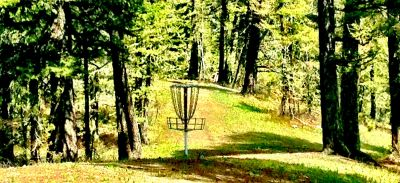 Bohart Ranch X-C Ski Center, Main course, Hole 4 Reverse (back up the fairway)
