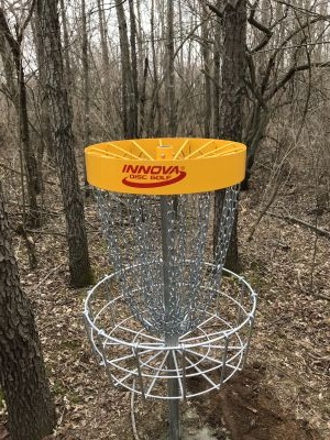Rolling Hills County Park, The Disc Golf Labyrinth, Hole 8 Short approach