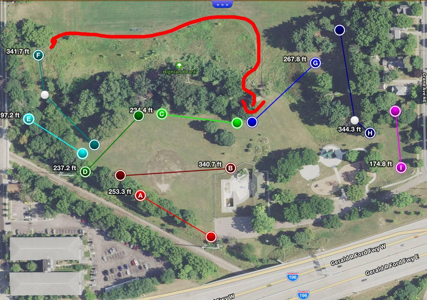 Hole 1 Highland Park Grand Rapids Mi Disc Golf Courses Disc Golf Scene