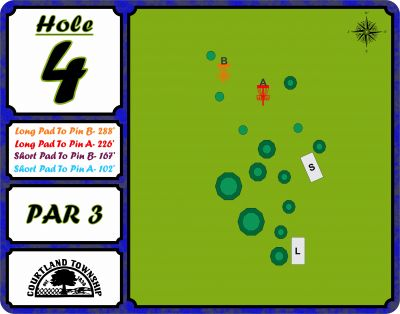 Courtland Township, Main course, Hole 4 Hole sign
