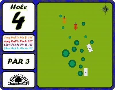Courtland Township, Main course, Hole 4 Hole sign