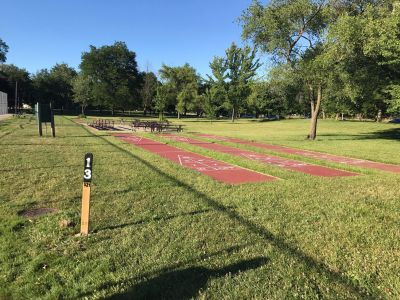 Spindler Park, Main course, Hole 13 Tee pad