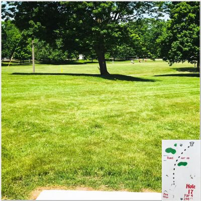 Rochester City Park, Main course, Hole 17 Tee pad