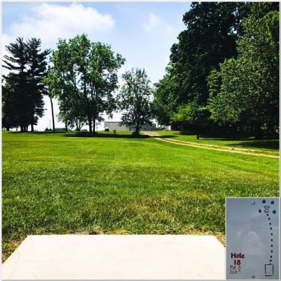 Rochester City Park, Main course, Hole 18 Tee pad