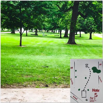 Rochester City Park, Main course, Hole 5 Tee pad