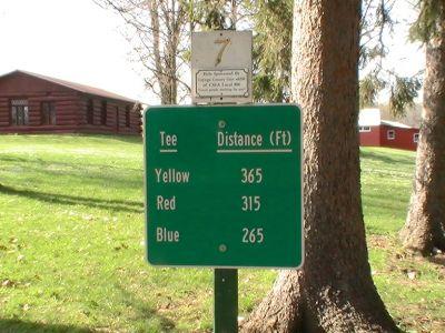 Emerson Park, Main course, Hole 7 Hole sign