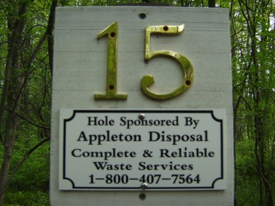 Emerson Park, Main course, Hole 15 Hole sign