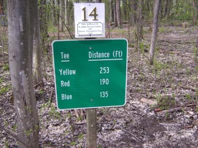 Emerson Park, Main course, Hole 14 Hole sign