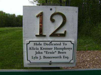 Emerson Park, Main course, Hole 12 Hole sign