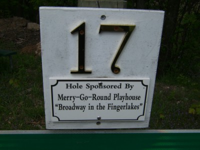 Emerson Park, Main course, Hole 17 Hole sign