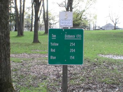 Emerson Park, Main course, Hole 5 Hole sign