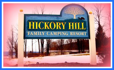 Hickory Hill Camping Resort, Main course, Hole 1 Hole sign