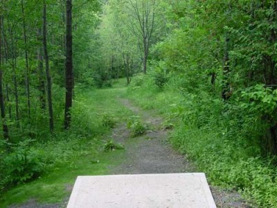 Oxbow Falls Park, Main course, Hole 9 Tee pad