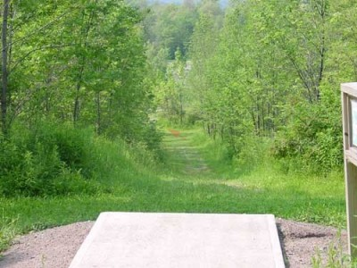 Oxbow Falls Park, Main course, Hole 18 Tee pad