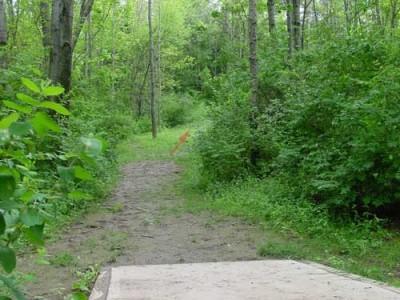 Oxbow Falls Park, Main course, Hole 5 Tee pad