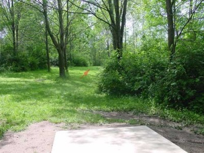 Oxbow Falls Park, Main course, Hole 3 Tee pad