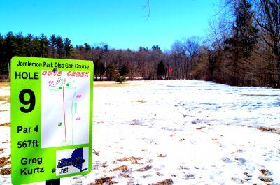 Joralemon Park, Main course, Hole 9 Long tee pad