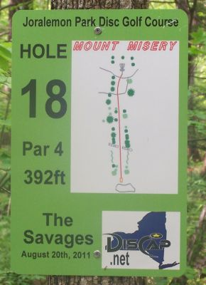 Joralemon Park, Main course, Hole 18 Hole sign