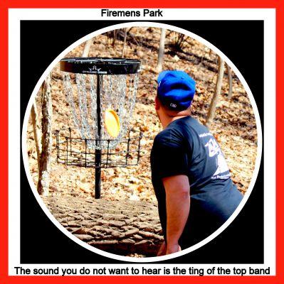 Firemen's Park DGC, Main course, Hole 14 Putt