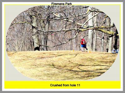 Firemen's Park DGC, Main course, Hole 11 Tee pad
