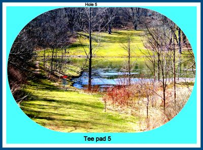 Firemen's Park DGC, Main course, Hole 5 Tee pad