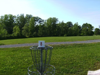 Jamesville Beach, Main course, Hole 8 Reverse (back up the fairway)