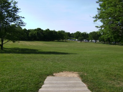 Jamesville Beach, Main course, Hole 2 Tee pad