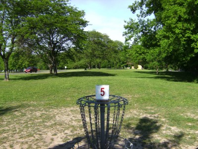 Jamesville Beach, Main course, Hole 5 Reverse (back up the fairway)