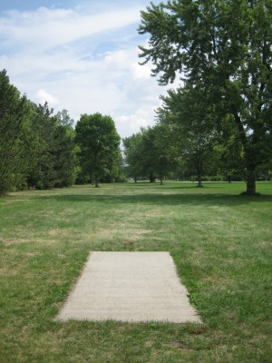 Joseph Davis State Park, Main course, Hole 17 Tee pad