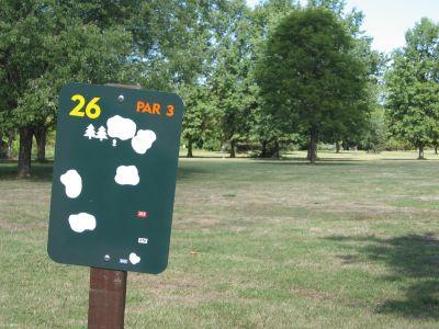 Joseph Davis State Park, Main course, Hole 26 Hole sign