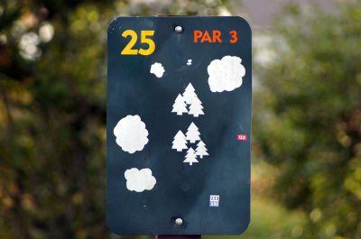 Joseph Davis State Park, Main course, Hole 25 Hole sign