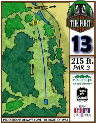 Fort Buenaventura, The Fort, Hole 13 Hole sign